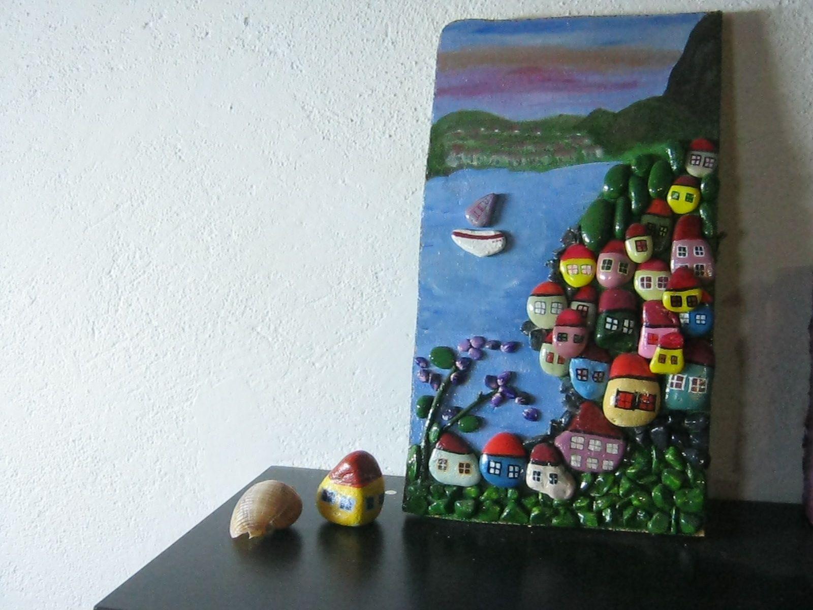 Tas Boyama Tablo Con Imagenes Piedras Pintadas Piedras Cuadros