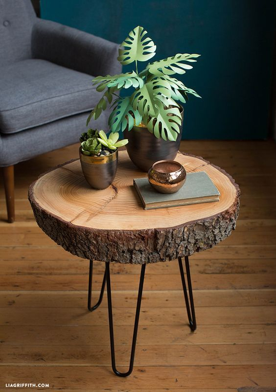 DIY Wood Slice Table