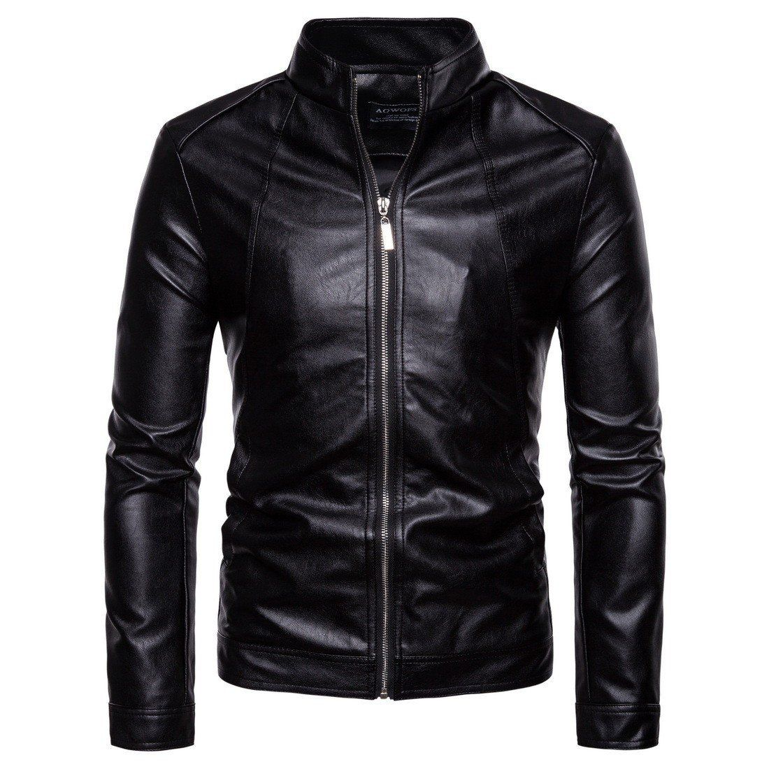 New Arrival Mens Motorcycle Leather Jacket Fitted biker