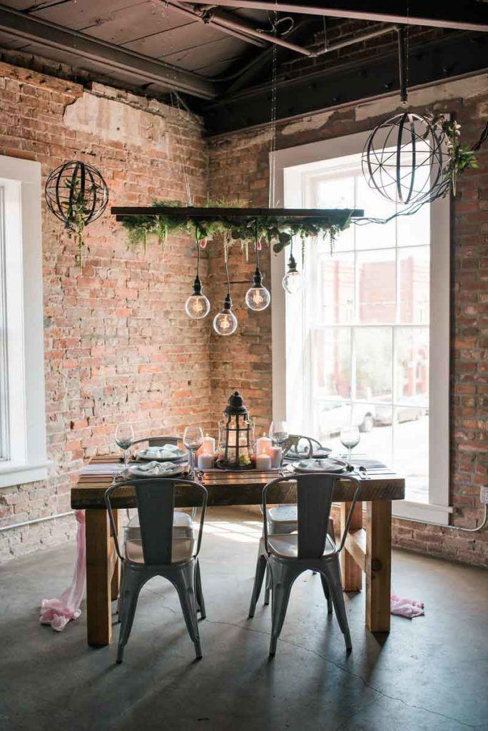 Industrial Chic Inspiration Shoot - Ybor City Ybor city - fresh blueprint furniture rental