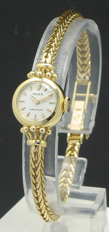 1cedcf21a STUNNING SOLID 18CT GOLD ROLEX PRECISION LADIES COCKTAIL WATCH C1956 ...