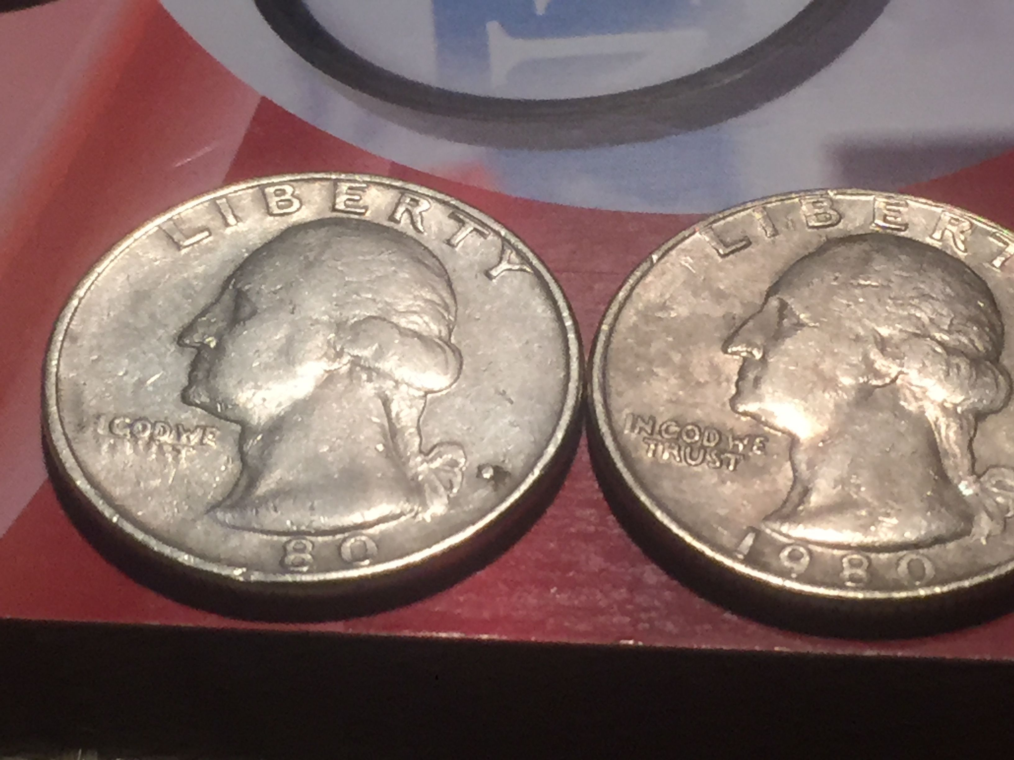 What's a 1980 Quarter worth if it's missing part of the year
