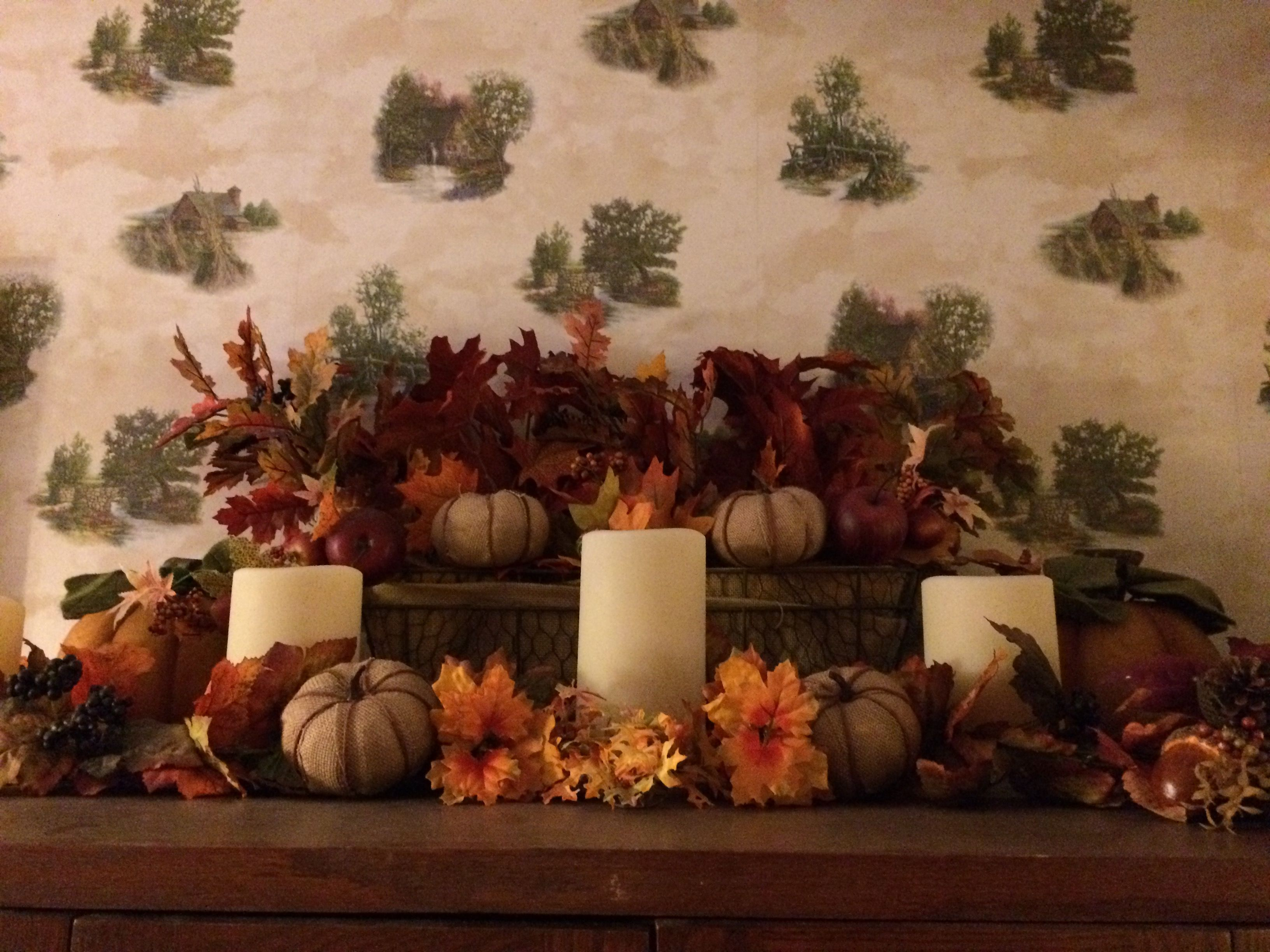 Harvest display on top of armoire