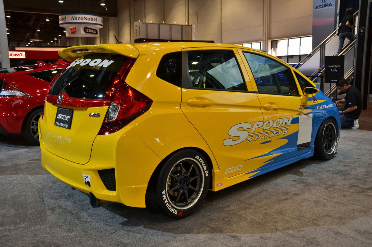 Honda fit car sticker design - Spoon Fit