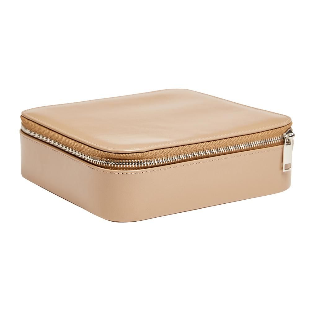 Mele & Co Gracie Tan Faux Leather Jewelry Box0067444 is part of Mele Definition Of Mele By Merriam Webster - Simplicity squared, the Mele and Co  Gracie travel jewelry case is all about the essentials  A slender profile and sturdy construction will make it your chosen travel companion  The plush sand suede lining adds opulence to the two open area sections and sublimely soft purchase to the ring rolls  Finally, the secure zippered closure will keep your jewelry and accessories safe and under cover