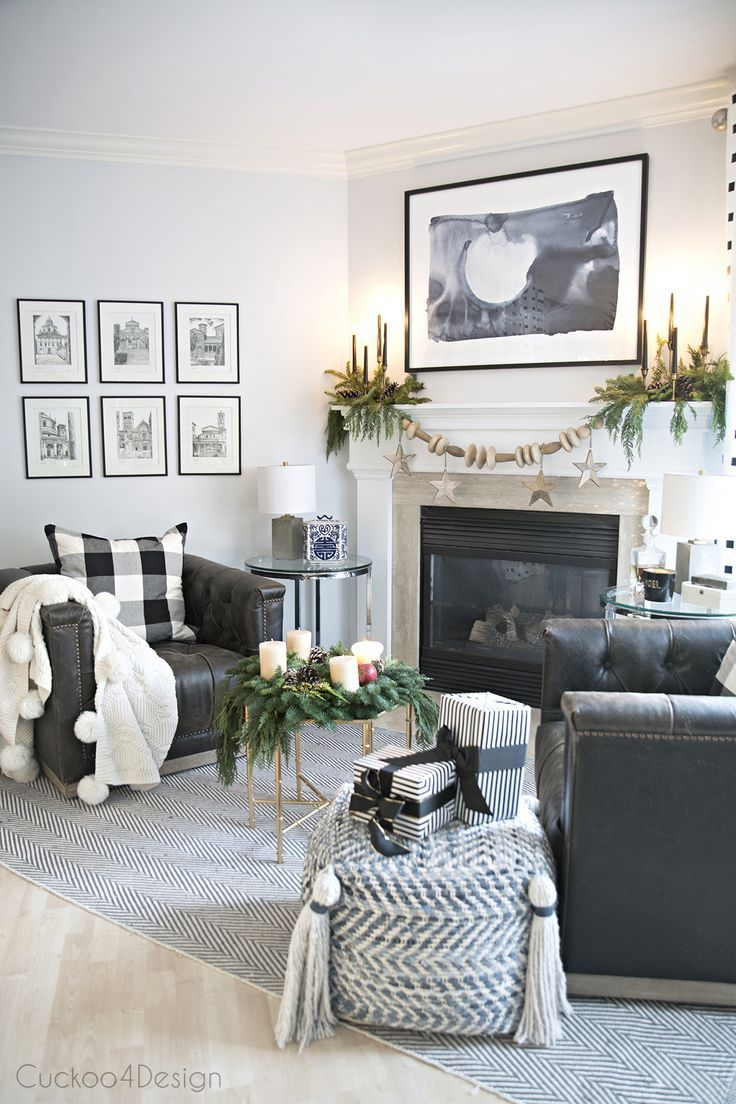German Influenced Christmas Home Tour | Leather swivel chair, White ...