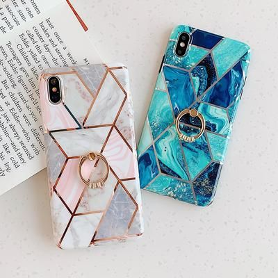 INSNIC Geometric Marble Texture iPhone Cases – A designs
