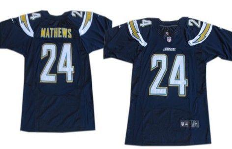 Nike San Diego Chargers #24 Ryan Mathews 2013 Navy Blue Elite Jersey