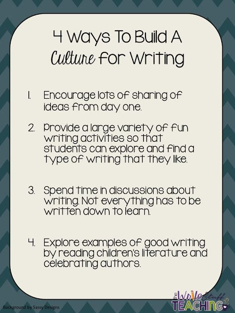 Small Group Writing Instruction Building A Culture For Writing