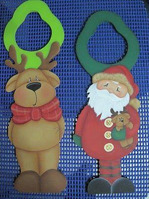 Apliques navide os para decorar las puertas pintura for Decorar puertas navidad infantil