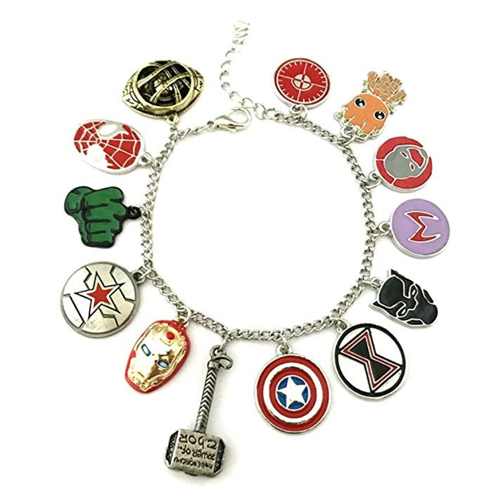 Disney Discovery Marvel Avengers Infinity Wars Charm Bracelet Marvel Jewelry Marvel Gifts Marvel Clothes