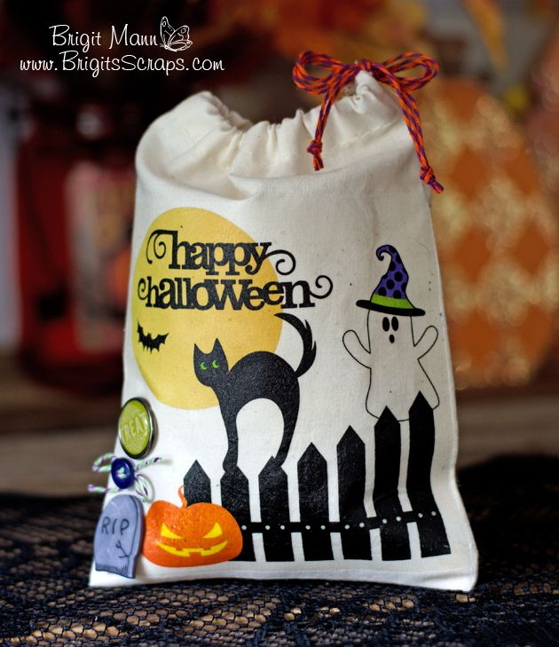 Hi everyone!! Here's a fun tutorial on creating a fabric transfer treat bag using SSDE. It's such an easy project and comes out great on these cotton muslin bags, so cute for a special Halloween ...