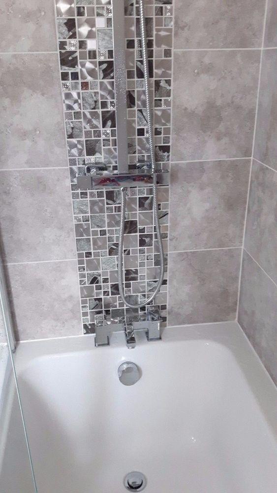 Saturn Silver Modular Glass Mosaic Bathroom Kitchen Sheets