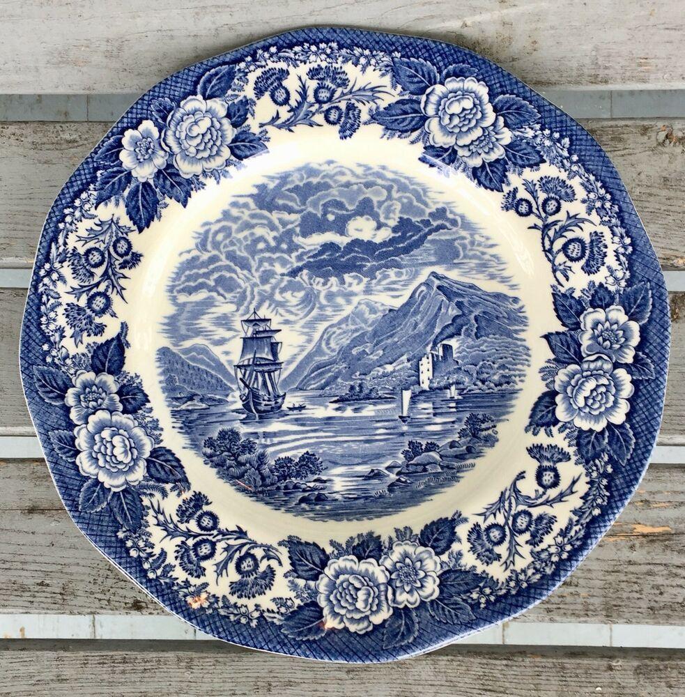 LOCH OICH Bread /& Butter Plate Set of 2 Royal Warwick China LOCHS OF SCOTLAND
