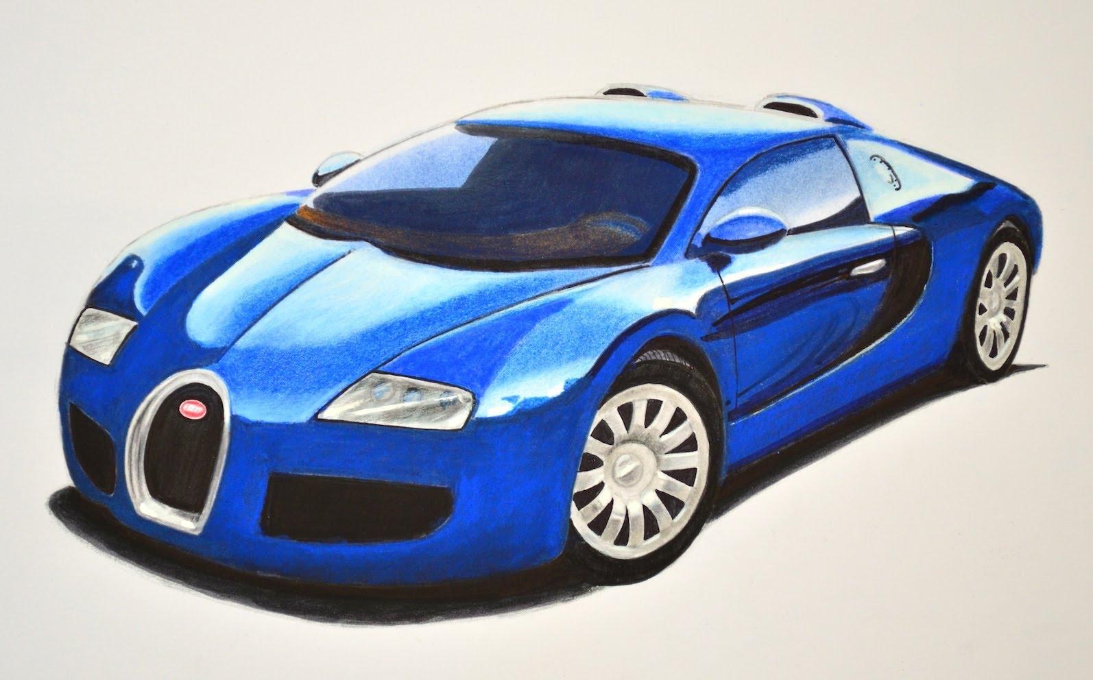 Youtube Car Drawings Bugatti Car