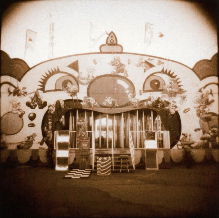 Abandonded Vintage Fun House Ride