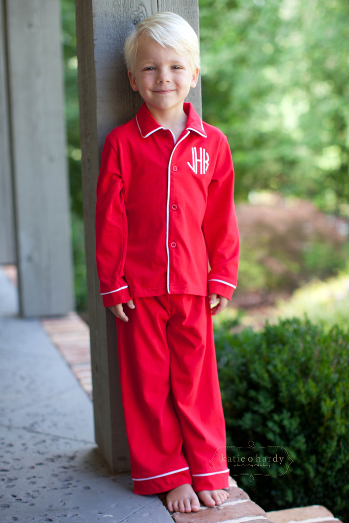 Red Knit Monogram Holiday Loungewear only $25 at www.southerntots ...