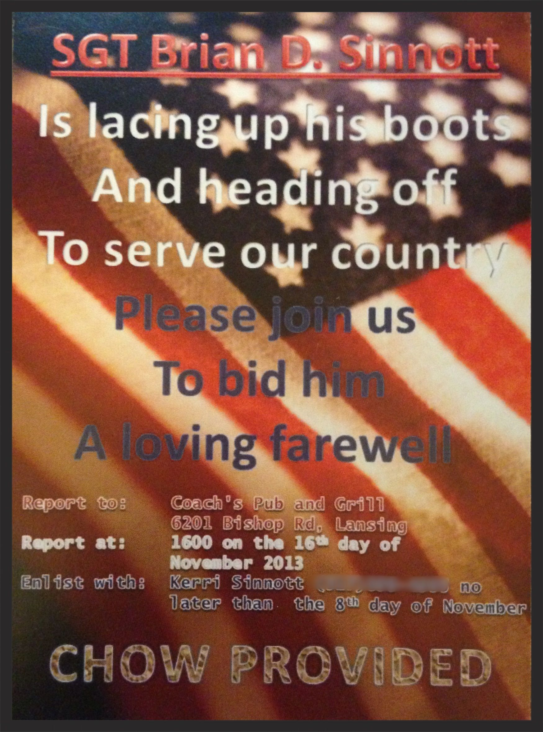 Pre deployment send off party invitation | Projects I have ...