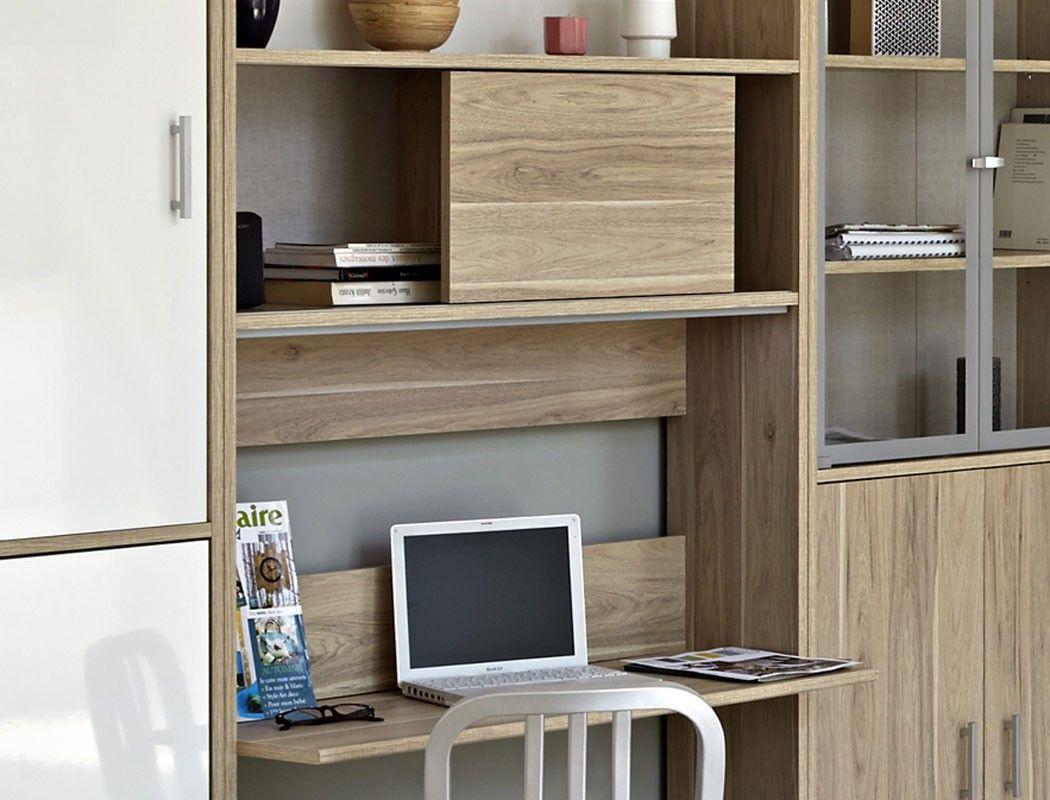 Genial Wohnwand Mit Schreibtisch