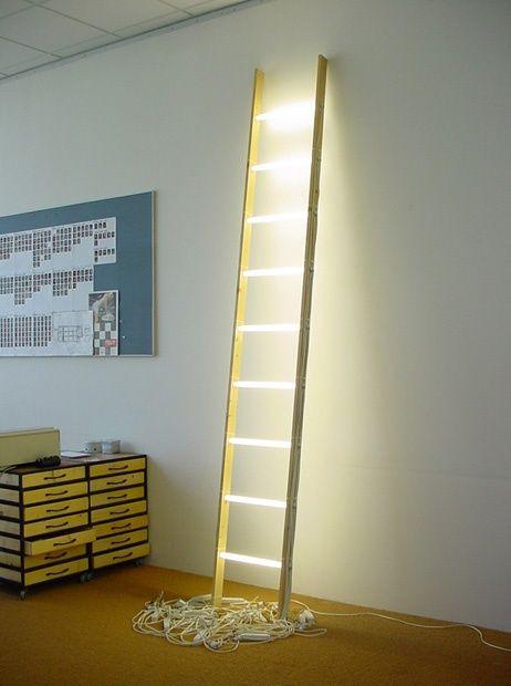 Lámpara escalera SOSA DECO Pinterest Escalera y Reciclado - lamparas para escaleras