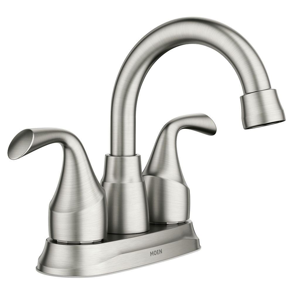 Idora 4 Inch Centerset 2 Handle Bathroom Faucet In Spot Resist Brushed Nickel Bathroom Faucets Brushed Nickel Faucet Faucet