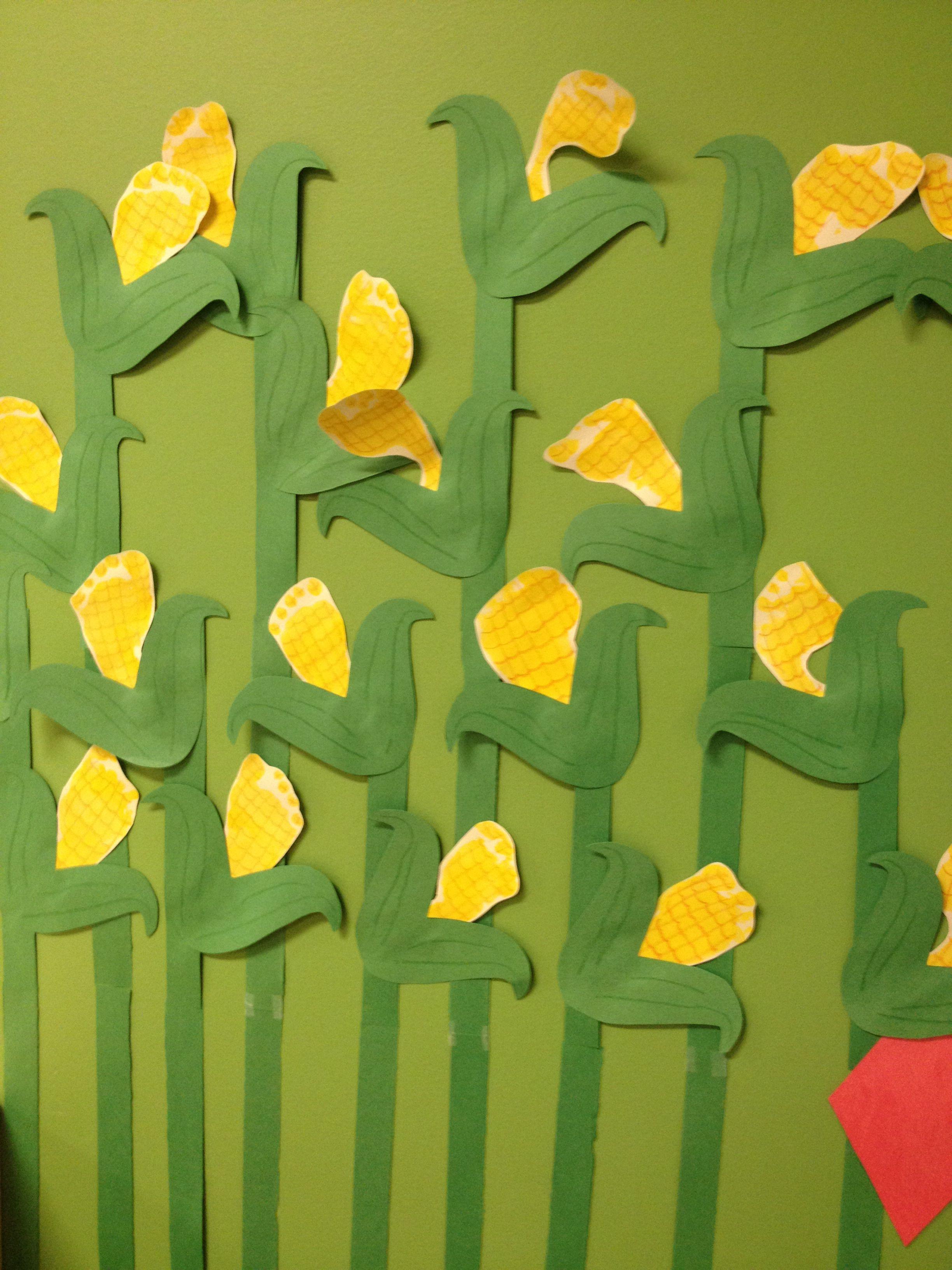 Footprint cornstalks! | Arts and Craft Ideas! | Pinterest ...