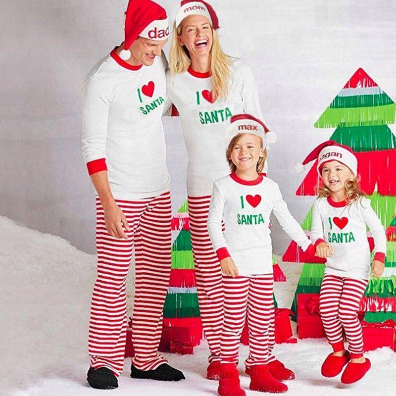 868f569e2d Family Matching Christmas Pajamas Set Adult Women Baby Kids Sleepwear  Nightwear