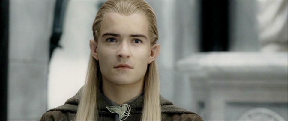 Orlando Bloom as Prince Legolas of Mirkwood in the Lord of the Ring Trilogy.