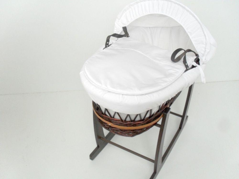 dark wicker baskets elegant baby white dressings on dark wicker moses basket with dark