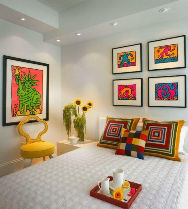 pop art merkmale im innendesign einrichtungsideen im 60er jahre stil interieur. Black Bedroom Furniture Sets. Home Design Ideas
