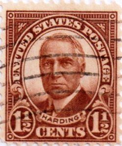 Us Postage 1 1 2 Cent Harding Issued 1922 Scott 553