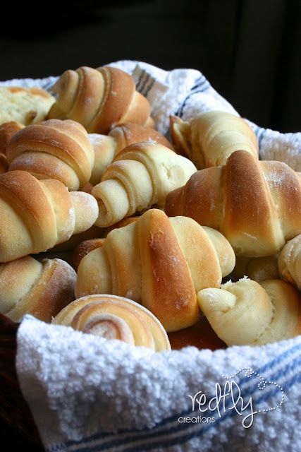 Our Favorite Crescent Rolls.  The dough can be made the day before and sit in the fridge overnight.
