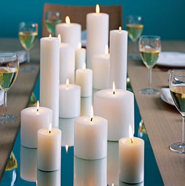 Simple Candle centre piece