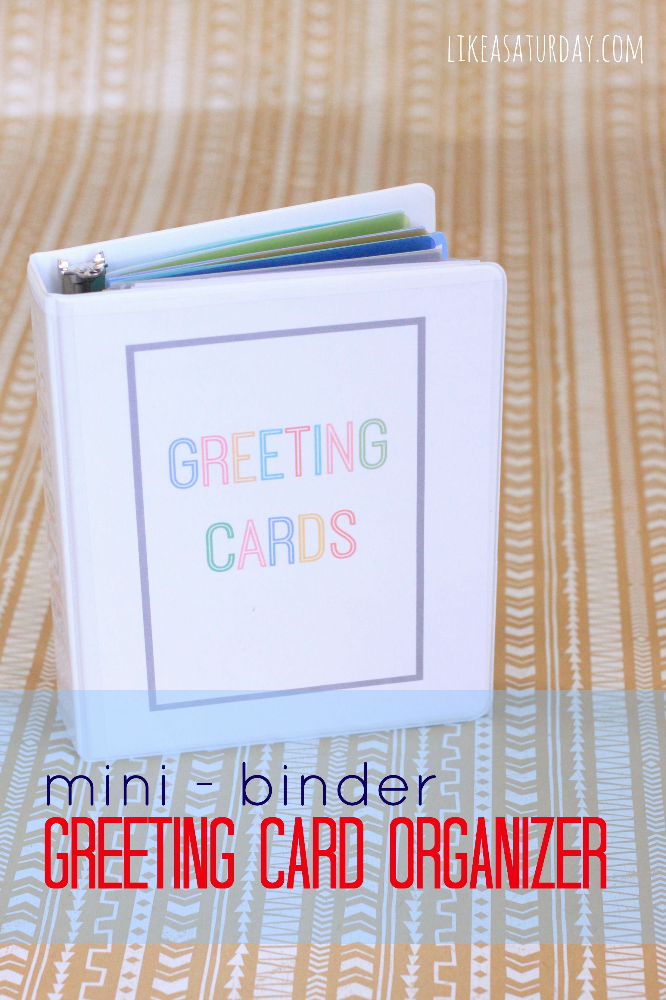 Greeting card organizer using a mini binder fully stocked with greeting card organizer using a mini binder fully stocked with hallmark value cards they run at 47 and 97 cents a piece m4hsunfo