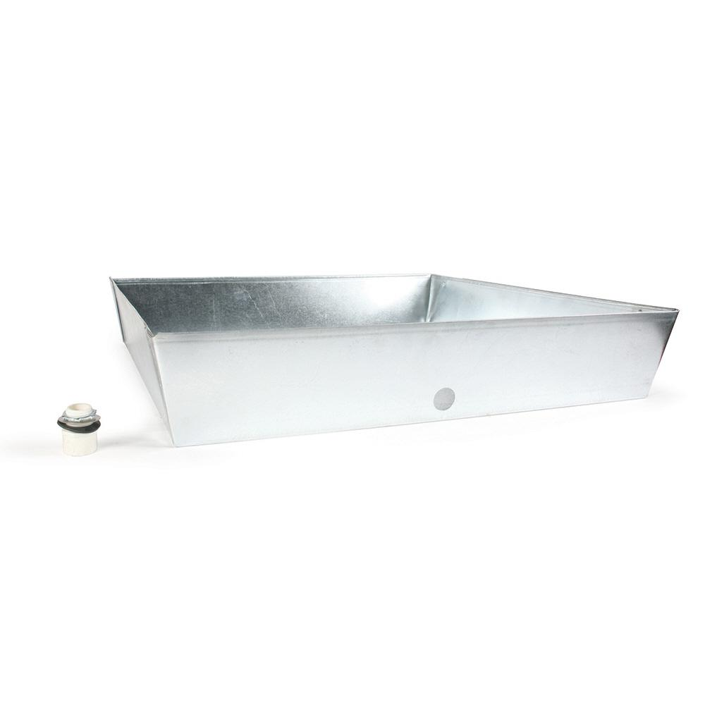 Camco 30 In X 30 In X 6 In Galvanized Water Heater Drain Pan 20932