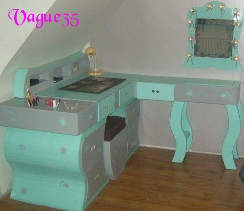finest bureaux with comment fabriquer une coiffeuse. Black Bedroom Furniture Sets. Home Design Ideas