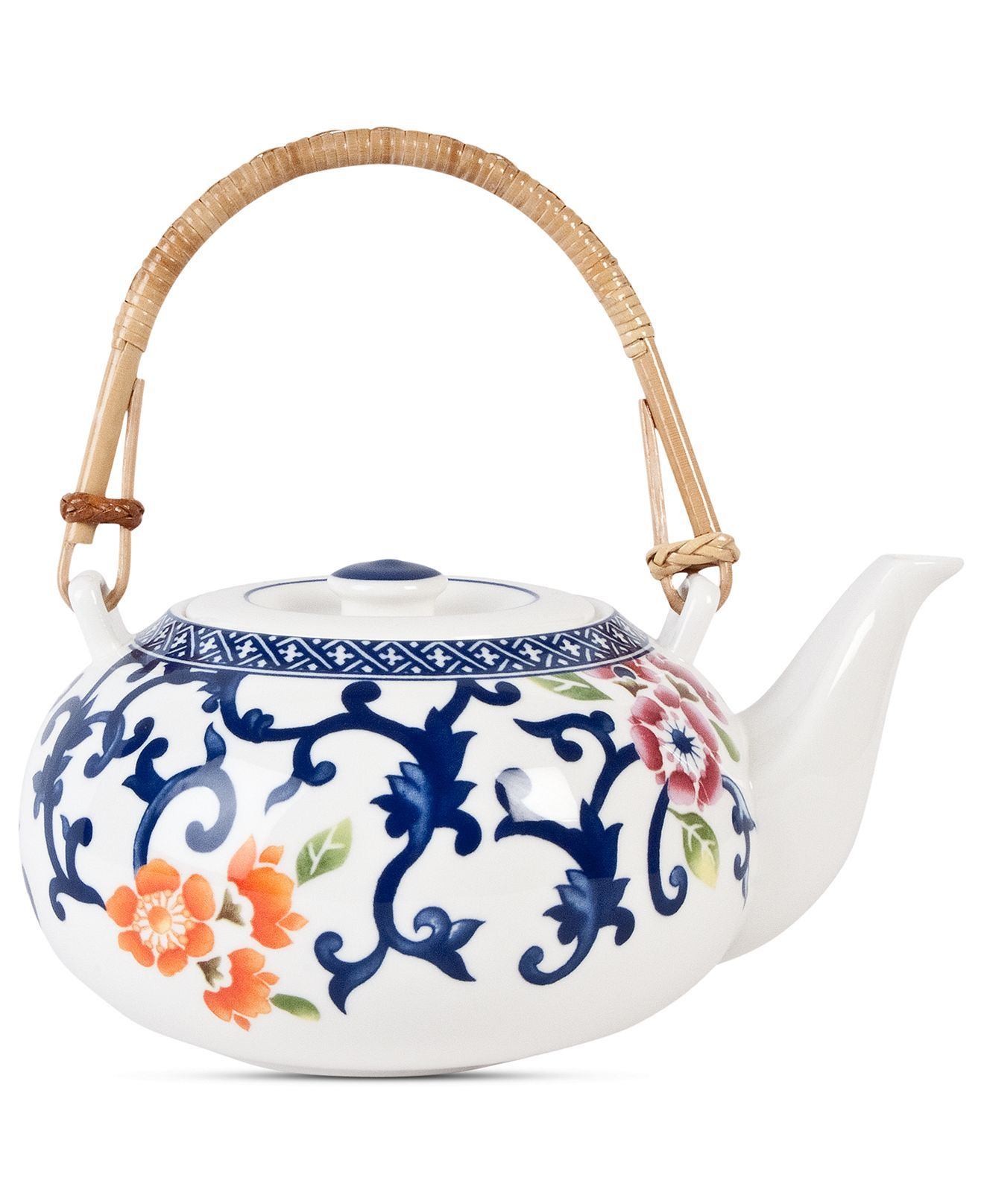 Lauren Ralph Lauren Dinnerware, Mandarin Blue Teapot - Fine China - Dining & Entertaining - Macy's