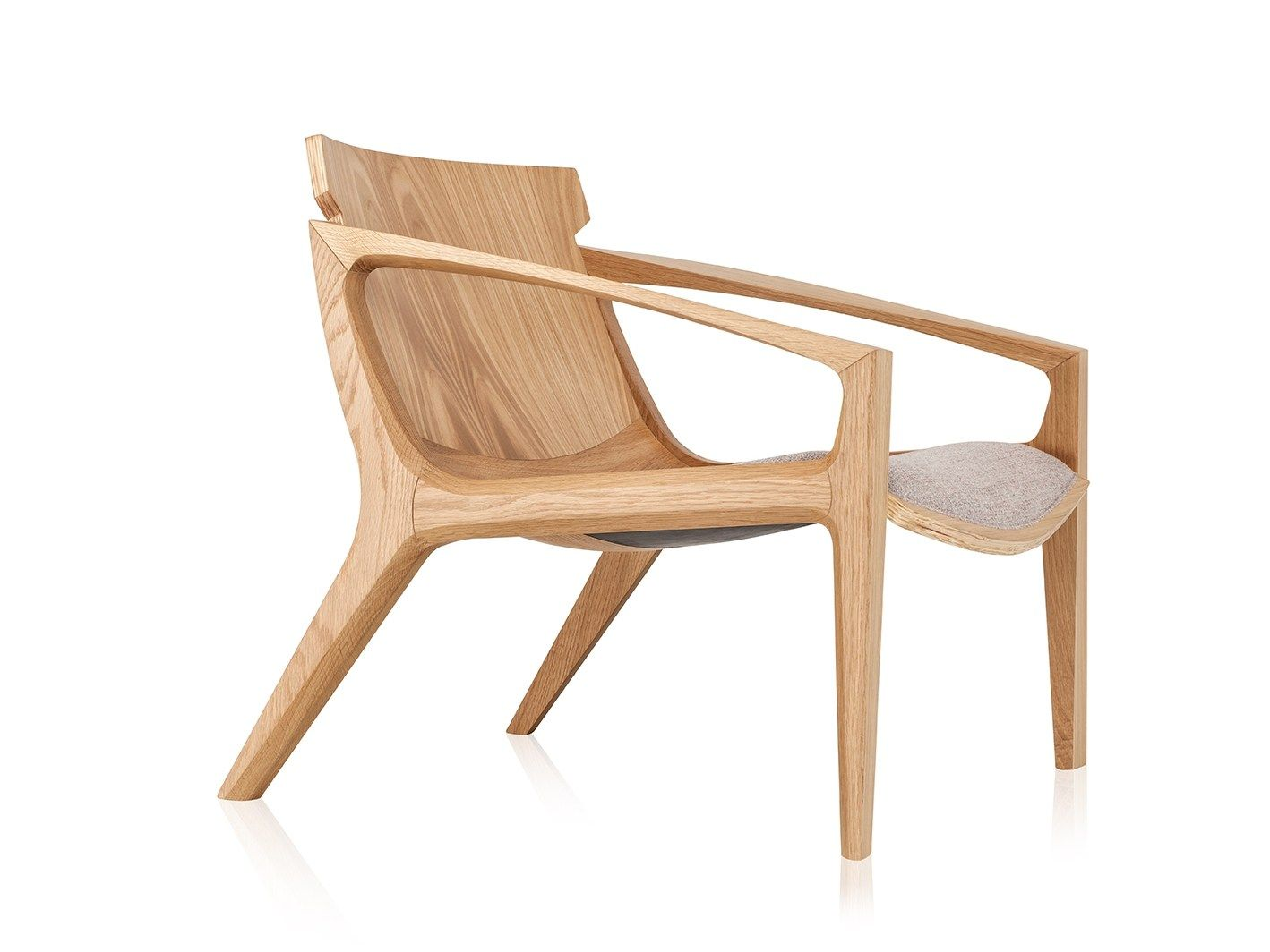 Delightful Solid Wood Armchair With Armrests LINNA By Sollos Design Jader Almeida