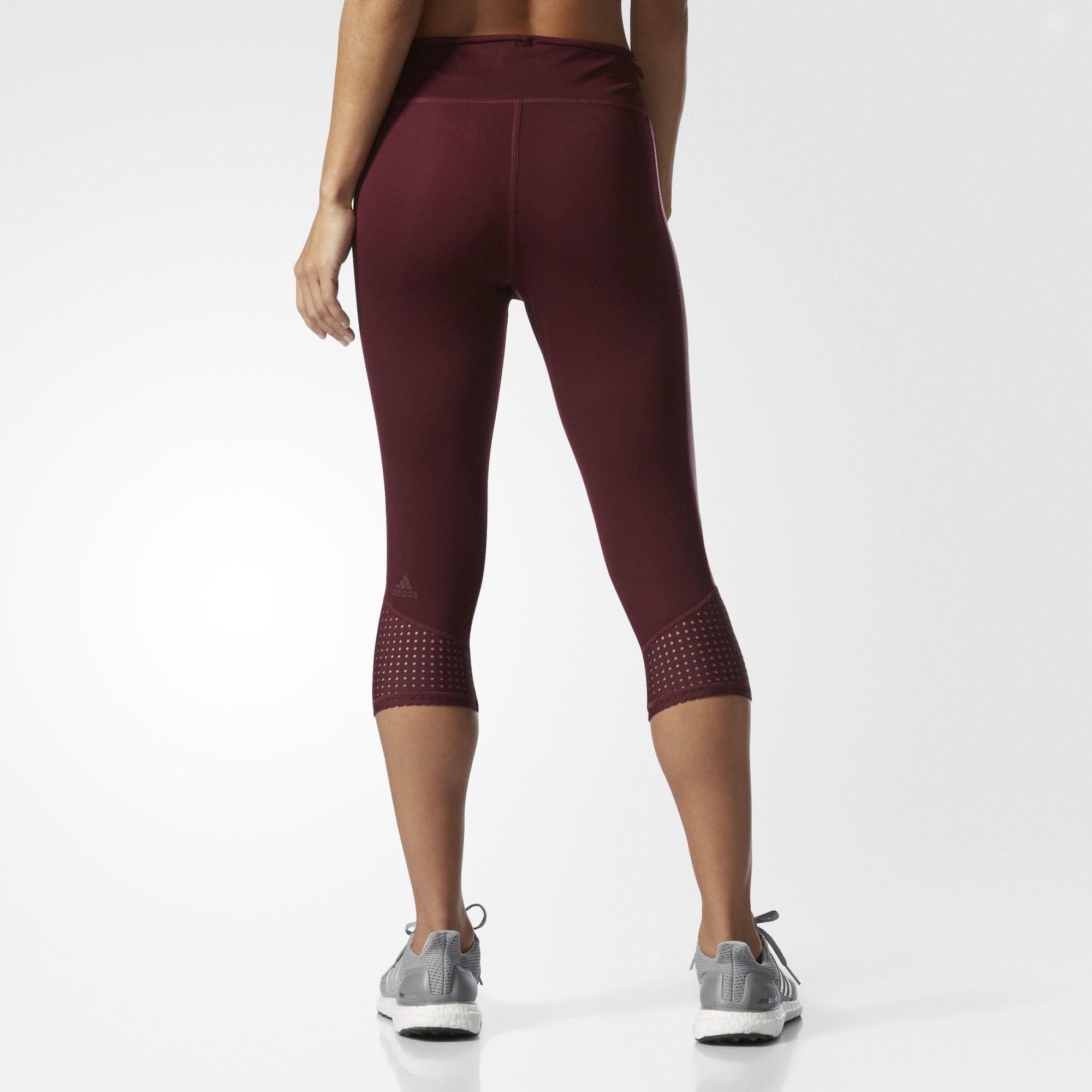 Adidas Men's Supernova Three-Quarter Length Running Tights Gym Yoga Pants NEW