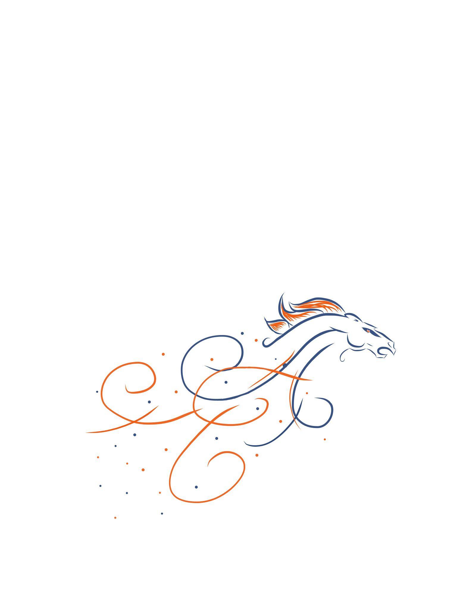 Feminine Denver Broncos design. Would be a neat tattoo design ...