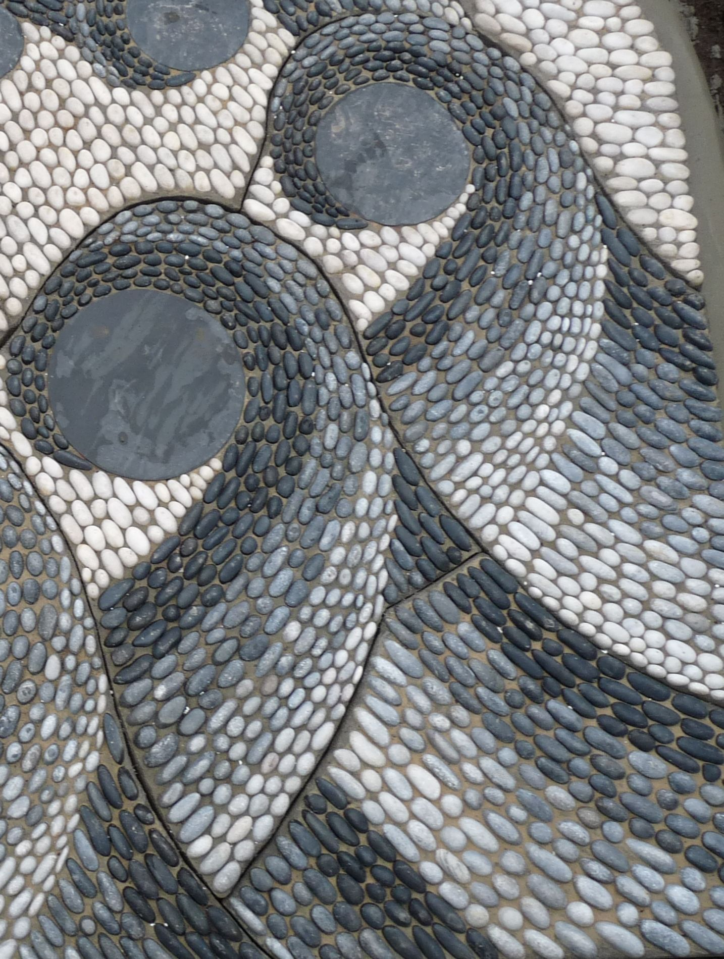 Pebble Mosaic Waves Details By Suerewmosaics With Images