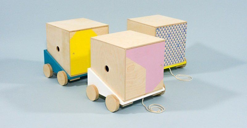The Cargo Line An Incredible Toy Box On Wheels From Studio Delle Alpi Kids Furniture Kids Furniture Toy Storage