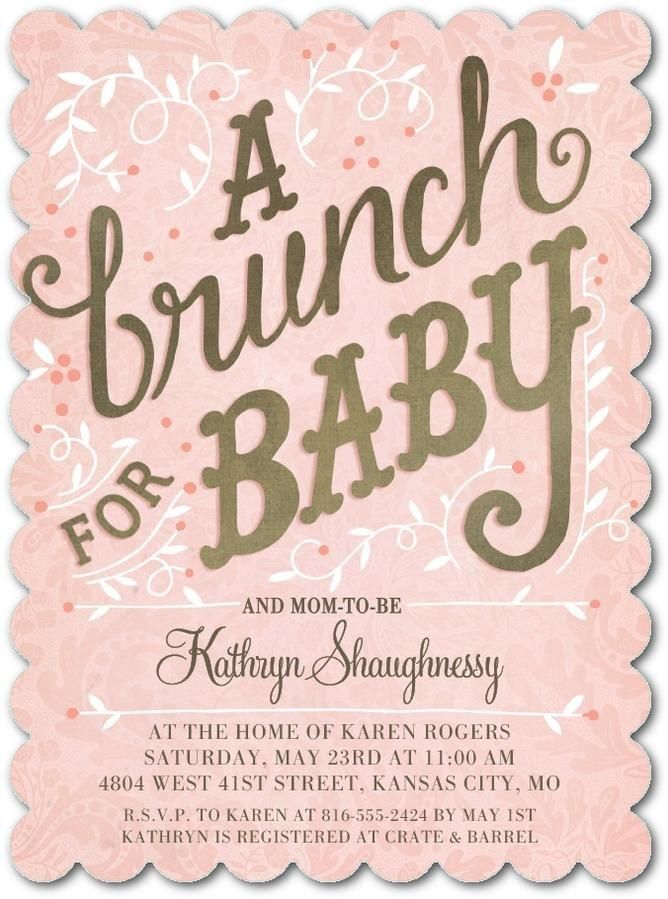 Combine your two loves- brunch and your new bundle of joy! Welcome ...
