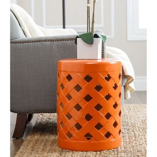 Shop for ABBYSON LIVING Capiz Orange Ceramic Garden Stool. Get free shipping at…