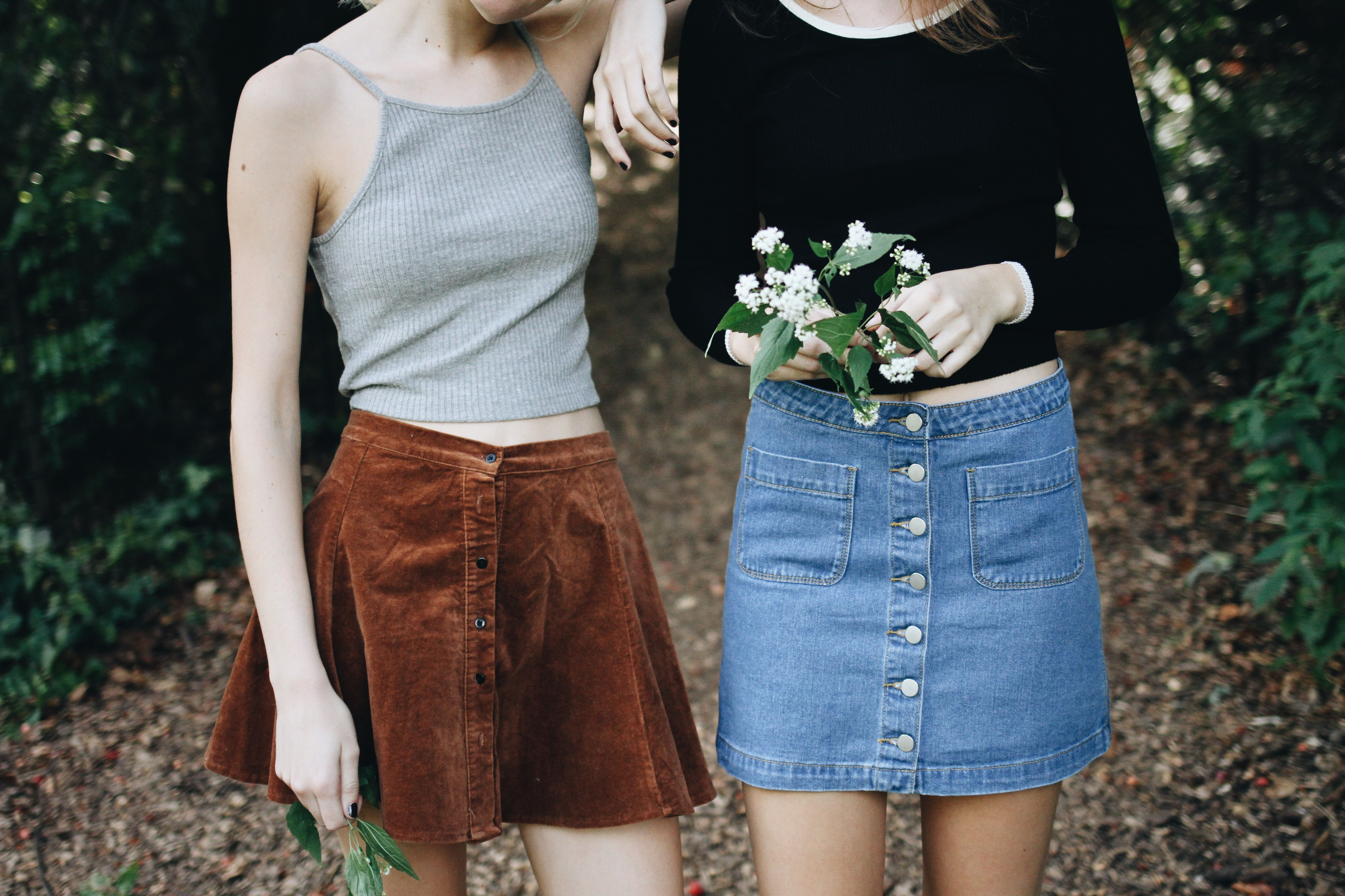 #pleated #skirt #denim
