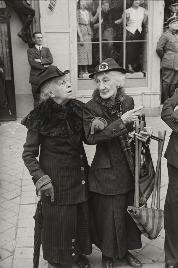 Photo by Henri Cartier-Bresson - during the Visit of George VI of England to Versailles, 1938