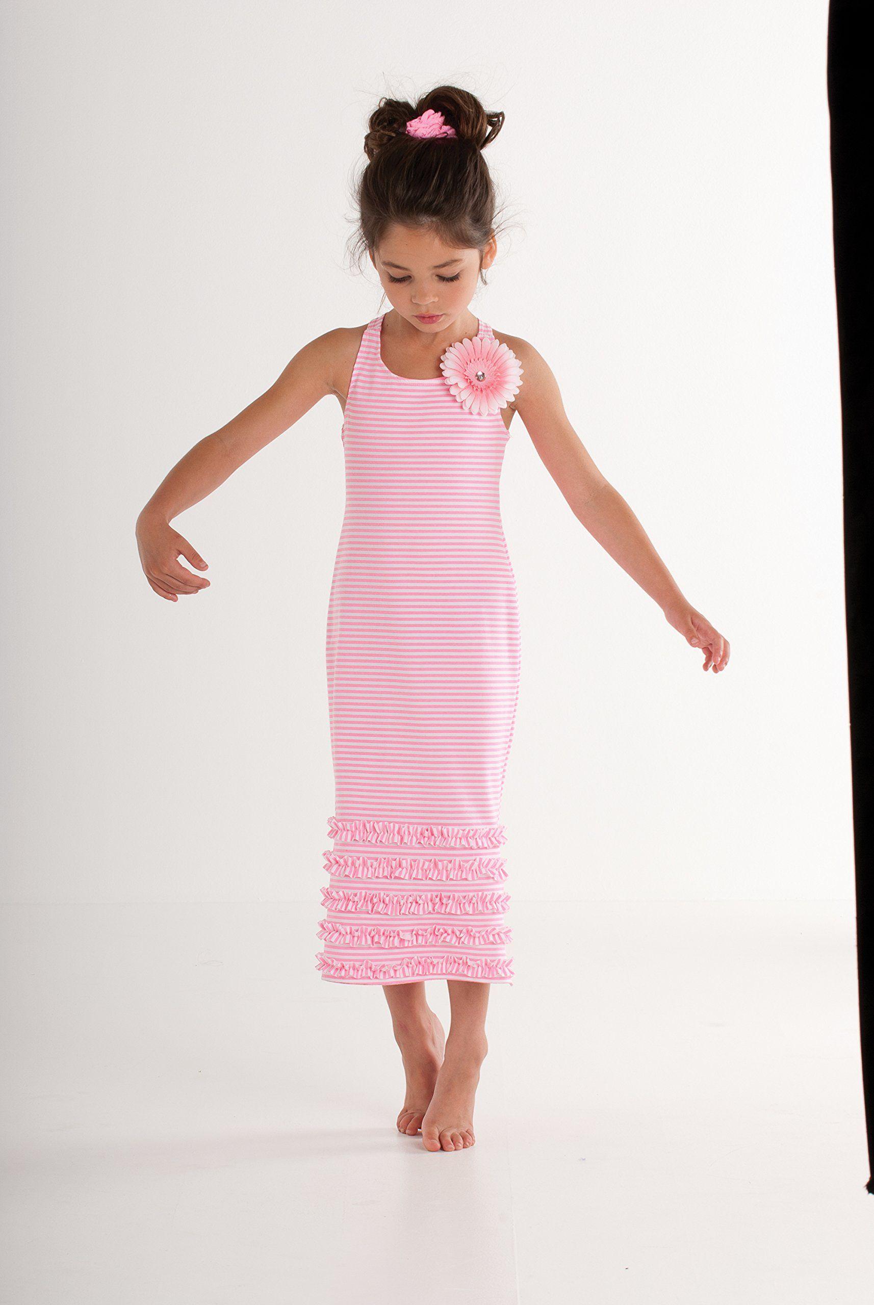 98d64f6ba134 Kate Mack Girl s 7-16 Dottie Daisy Maxi Dress