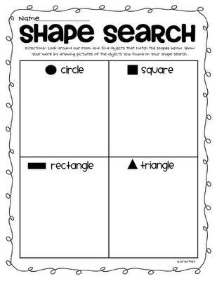 Geometry fun/ identifying shapes in environment. Could be a fun ...