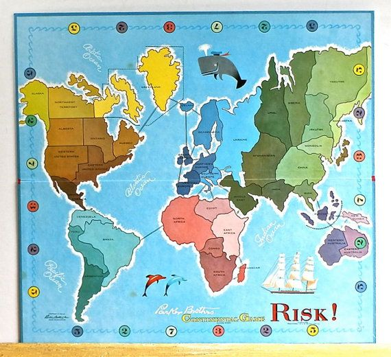Vintage family board game risk world map by dairyfarmantiques vintage family board game risk world map by dairyfarmantiques gumiabroncs Choice Image