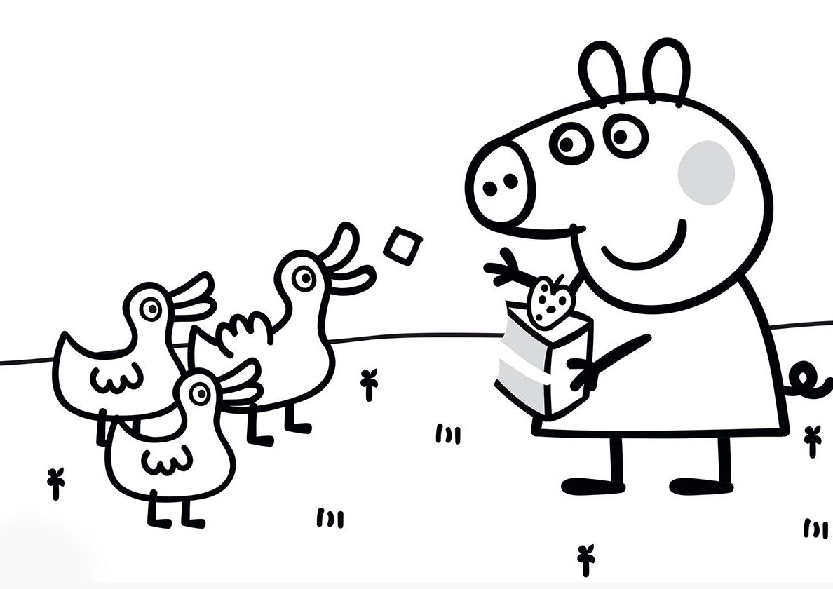 Free Coloring Pages For Kids Peppa Pig